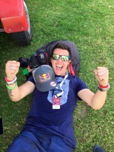 Luca Bertossio festeggia ai WAG 2015 Dubai