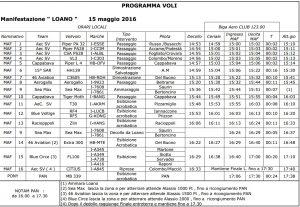 Loano Air Show 2016 - Programma Domenica 15 Maggio
